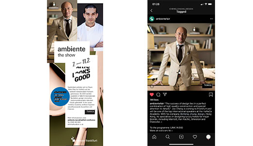 Mr. Joe Cheng Invites to Be the Guest Speaker of Ambiente 2020